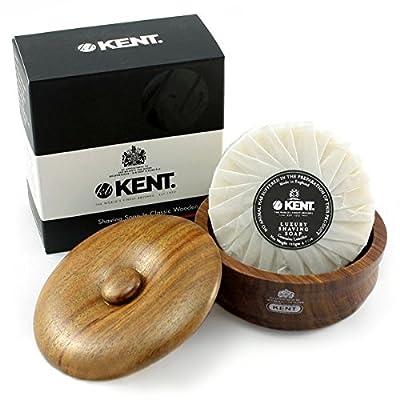 Kent SB3 - Dark oak shaving bowl & soap by Kent from Kent