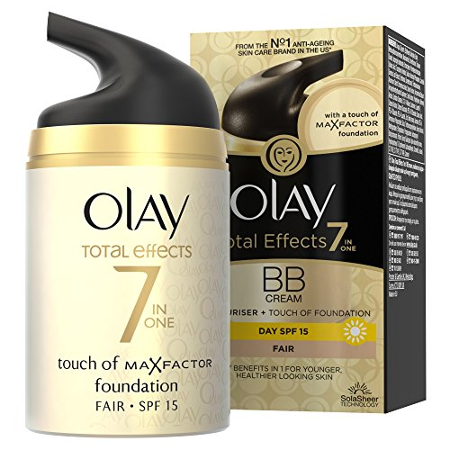 Olay Total Effects Anti-Ageing 7-in-1 BB Cream SPF15 for Fair Shade Fights the 7 Signs of Ageing and Evens Skin Tone, 50 ml