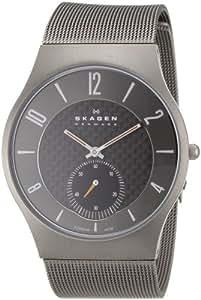 Skagen Herren-Armbanduhr XL Analog Quarz Edelstahl beschichtet 805XLTTM