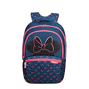 51IC65u5FmL. SS300  - Samsonite Disney Ultimate 2.0 Backpack Medium Mochila infantil, 41 cm, 18.5 L, Azul (Minnie Neon)