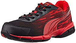 Puma Mens Agenor DP Black and High Risk Red Mesh Running Shoes - 9 UK/India (43 EU)