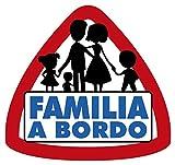Artimagen Pegatina Familia a Bordo 90x95 mm.