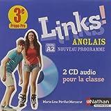 Anglais 3e prépa-pro niveau a2 Links (2CD audio MP3)