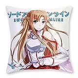CoolChange Sword Art Online Deko Kissenbezug 50x50cm, Motiv: Asuna Yuuki