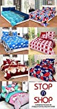 #6: Stop N Shopp Super Home Combo Set Of 7 Grace Cotton King Size Double Bedsheet With 14 Pillow Covers