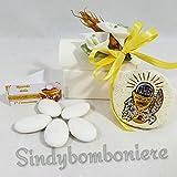 Bomboniere Kommunion Silber Bild Heilige Ikone mit Kelch und Ostia Confetti Inklusive 3 Bomboniere confezionate