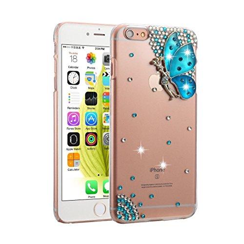 BING Für iPhone 6 Plus / 6s Plus Diamond Encrusted Bling Crown Pattern PC Schutzhülle Back Cover BING ( SKU : IP6P1003H ) IP6P1003G