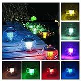 1 Pz Colorato Giardino Luce Solare, Coquimbo Colore Cambiando Stagno Galleggiante Piscina Luci Impermeabile Giardino Esterno Luci (1 Pack)