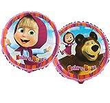 paduTec Folienballon Ballon - Mascha und der Bär - Geburtstag - geeignet zur befüllung mit Helium Gas oder Luft - Europäische Premiumqualität