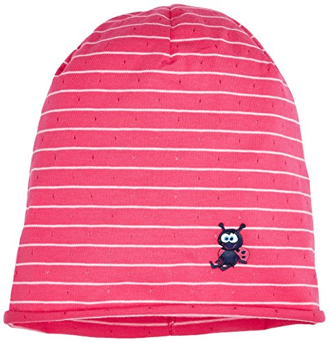 maximo Beanie, Rollrand, Bonnet Fille Mehrfarbig (Mehrfarbig (sexy pink-mandelblüte-ringel 2111) 2111)