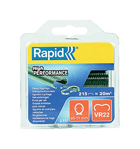 Rapid, 40108802, Agrafes de grillage galvanisées vertes, VR22,...