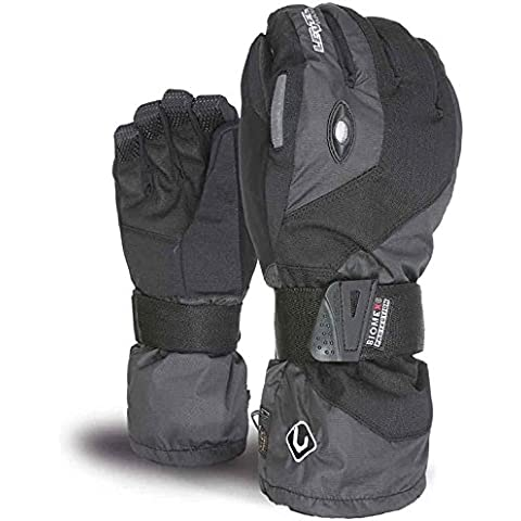 Level - Guantes de esquí para hombre, tamaño 7,5 UK, color 01 negro