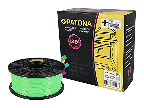 Patona 3D Printer Filament PLA - Leuchtend im Dunklen (glimmt) - grün (Spule / 1Kg / 1,75mm) (Glow In The Dark Blau)