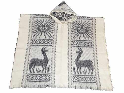 south-american-100-wolle-hand-made-poncho-inca-sun-weiss