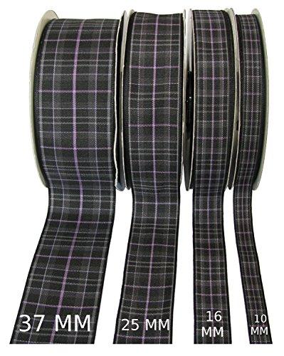 Pride of Scotland (Platinum) Tartan Band, 25m lang Spule (erhältlich in 10mm, 16mm, 25mm und 37mm breiten Per Knopf ausgewählt), Textil, Pride of Scotland(Plat), 37 mm -