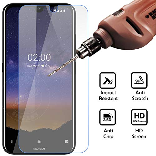 Jkobi Explosion Proof Quality Tempered Glass For Nokia 2.2 Scratch Protector Screen Guard -Transparent