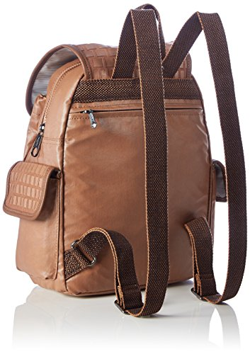 Kipling - City Pack S, Borse a zainetto Donna Marrone (Tan Weave)