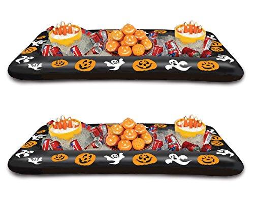 asbar Halloween Buffet Kühler, 71cm by 4-feet 53/4-Zoll 2er-Set mehrfarbig (Aufblasbare Halloween-kühler)