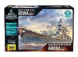 ZVEZDA 9201 U.S.S. Schlachtschiff Iowa Plastikmodellbausatz Maßstab 1/1200 31 Details Länge 22.5 cm