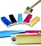 takestop® ACCENDINO RICARICABILE ANTIVENTO USB SENZA FIAMMA NO GAS SIGARETTA LIGHTER FUMATORI FUMO colori casuali