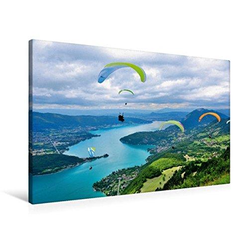 Premium Textil-Leinwand 90 cm x 60 cm quer, Blick auf den Lac...