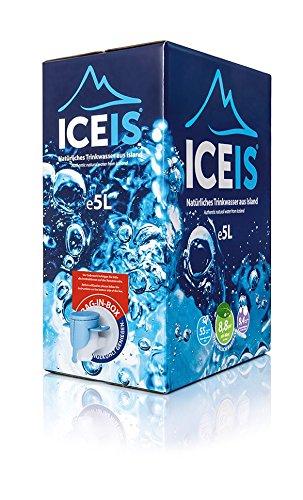 ICEIS - Natürliches alkalisches Wasser (pH-Wert 8,8) von einem Gletscher in Island - 5L. (Alkalisches Wasser)