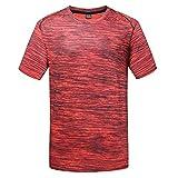 Sportshirt Herren Laufshirt Kurzarm Funktionsshirt Atmungsaktiv Kurzarmshirt Sports Shirt...