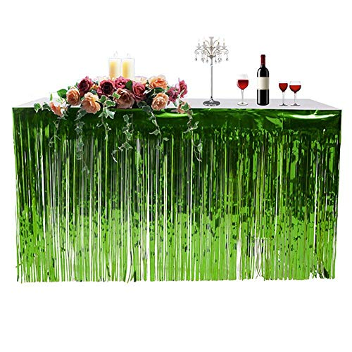Tischrock Hawaii Tischdecke Party Tisch Vorhang Feierfest Tisch Rock Tischdecken Zubehör für Garten Strand Sommer Party Dekoration(74 * 274 cm)
