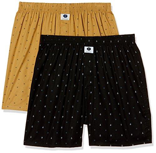 Amazon Brand - Symbol Men's Printed Boxers (Pack of 2)(SYMBXPO2-37_3637 & 3923_Multicolor_Large)