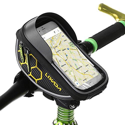 Lixada Rahmentasche Fahrradtasche Oberrohr Lenker Tasche Touchscreen Handy-Halterung