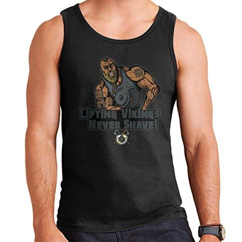 Liftin Vikings Never Shave Men's Vest Black
