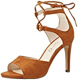 Another Pair of Shoes Damen SiennaE1 Offene Sandalen mit Keilabsatz, Braun (Mid Brown21), 36 EU