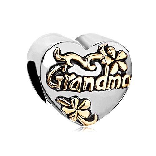 Charm-Perle für Armband mit Herz-Motiv