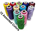 #5: Silk Thread for jewellery making, silk threads for embroidery,multicolors, silk thread spool for jewellery making, silk thread spool set of 12 colors Spools Multicolour Combo for Silk Thread Jewellery, Jhumka and Bangle making