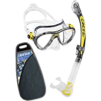 Cressi Big Eyes Evolution Plus Kappa Ultra Dry Combo Diving Set - Clear/Yellow