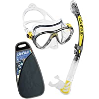 Cressi Big Eyes Evolution & Kappa Ultra Dry Schnorchel - Pack de snorkel ( tubo y gafas), color amarillo