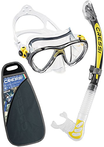 Cressi Big Eyes Evolution & Kappa Ultra Dry Schnorchel - Pack de snork