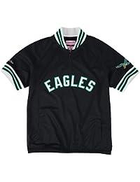 "Philadelphia Eagles Mitchell & Ness NFL ""Championship"" Mesh Pullover Jacket Veste"