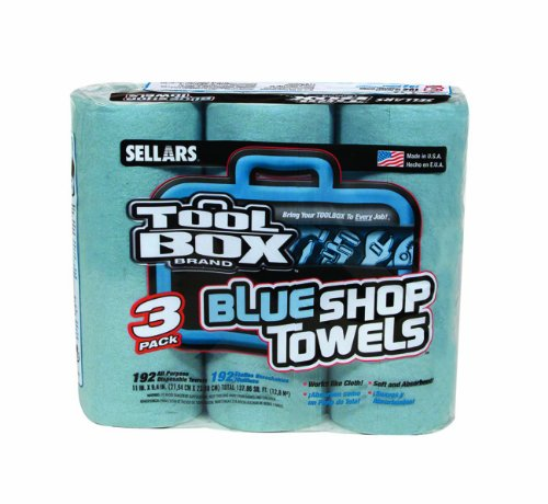 30 Rolls of 55 Sheets Sellars 54400 ToolBox Z400 Shop Recycled Disposable Towel 11 Length x 9.4 Width Blue
