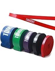 TOMOUNT Bandas de Resistencia para Fitness Potencia Banda para Crossfit Rojo