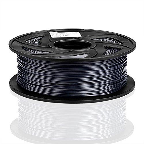 SIENOC 1 Packung 3D Drucker PLA 1.75mm Printer Filament - Mit Spule 1kg (Flexible Dunkelgrau)
