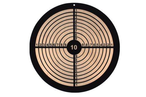 Holz-Zielscheibe rund, hochwertige Zielscheibe aus Holz, 33 cm Druchmesser, ideal für Pfeile mit Saugnapf