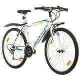 Multibrand, PROBIKE PROBIKE 26, 26 x 19 480mm, 26 Zoll, Mountainbike, 18 Gang, Kotflügel vorne und hinten, Für Herren, Weiß