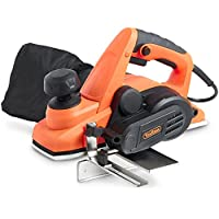 VonHaus 900W Planer with 82 X 3mm Planing Width, Guide & Dust Bag includes Extra Set of Blades