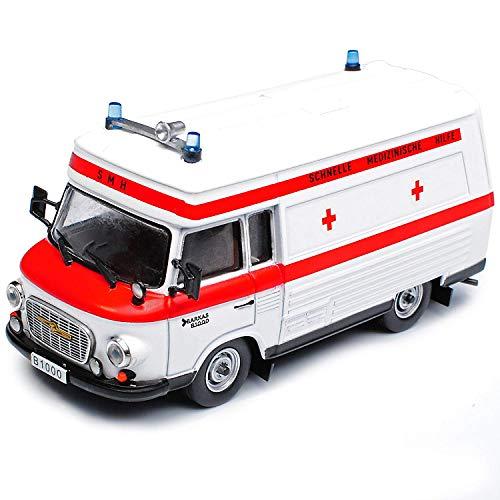 Atlas Barkas B1000 SMH Schnelle Medizinische Hilfe DDR Ambulanz Krankenwagen Weiss 1961-1990 1/43 Modell Auto