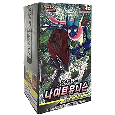 Pokemon Cartas Sun & Moon Reinforced Expansion Pack Caja 30 Packs + 3pcs Premium Card Sleeve Corea Ver TCG Night Unison de Pokemon Korea
