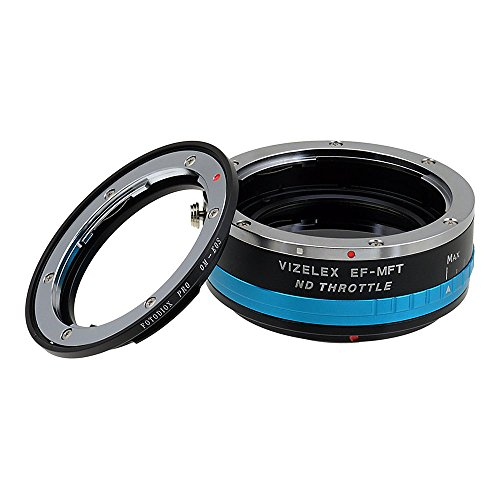Black Magic Filter (Vizelex ND Throttle Lens Mount Adapter from Fotodiox Pro - Olympus OM (OM-System) Lens to Micro-4/3 Mount Cameras (such as OM-D E-M10, Lumix GH4, and Black Magic Pocket Cinema Camera) - with Built-In Variable ND Filter (ND2-ND1000))