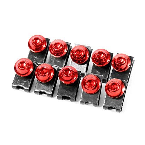 Preisvergleich Produktbild Qiilu 10x M5 Motorrad Verkleidung Körper Schraubenkit Schraube Spire Speed Fastener Clip Mutter(Rot)