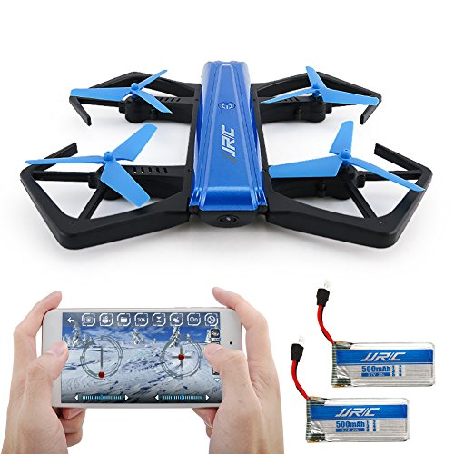 Drone Pieghevole, Kingtoys JJRC H43WH 720P WIFI Camera con Auto Beauty Mode, G-sensor Model, Altitude Hold RC Quadcopter (2 pcs Batteria) , Blue