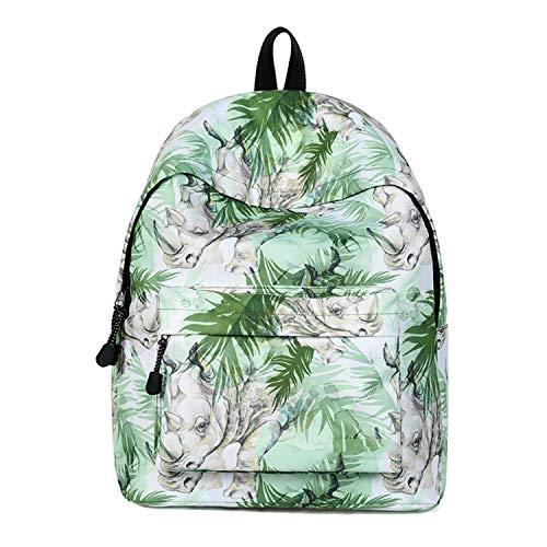 (Mädchen Schule Tasche Persönlichkeit Mode Einfach Umhängetasche Bulk Wasserdicht Leicht Student Rucksack,Green-OneSize)